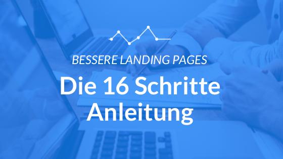 16 Schritte Landing Page Anleitung